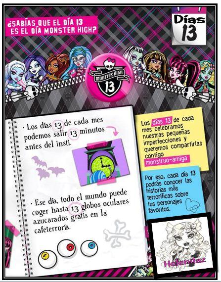 13 = Día Monster High