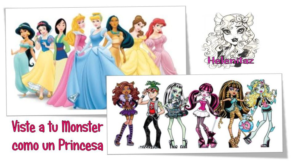 Viste a tu Monster de Princesa Disney