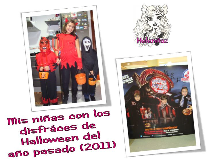 Mis princesas en el Halloween de Helenitaz.com