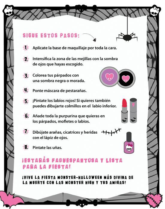 Maquillaje Monster High para Halloween