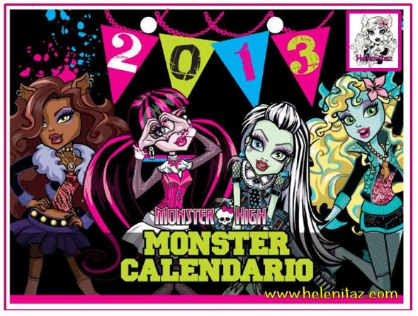Calendario 2013 Monster High