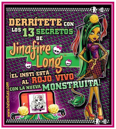 Jinafire Long, nuevo personaje Monster High.