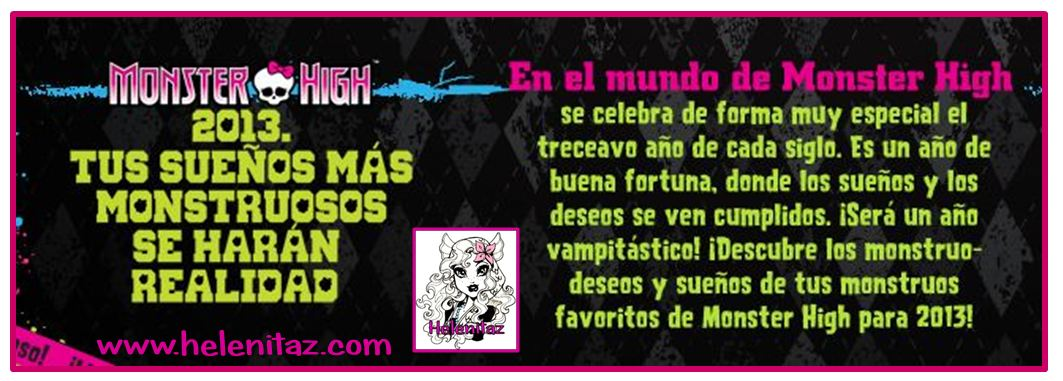 Predicciones Monster High para 2013.