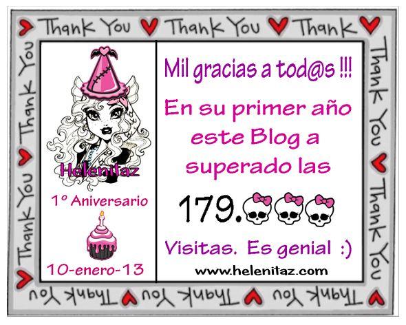 Primer Año Helenitaz.com y 179.000 Visitas.