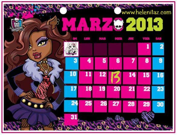 Clawdeen Wolf - Marzo 2013