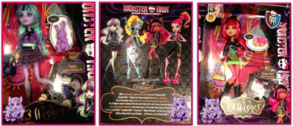 Monster High Howleen y Clawdeen 13 Deseos