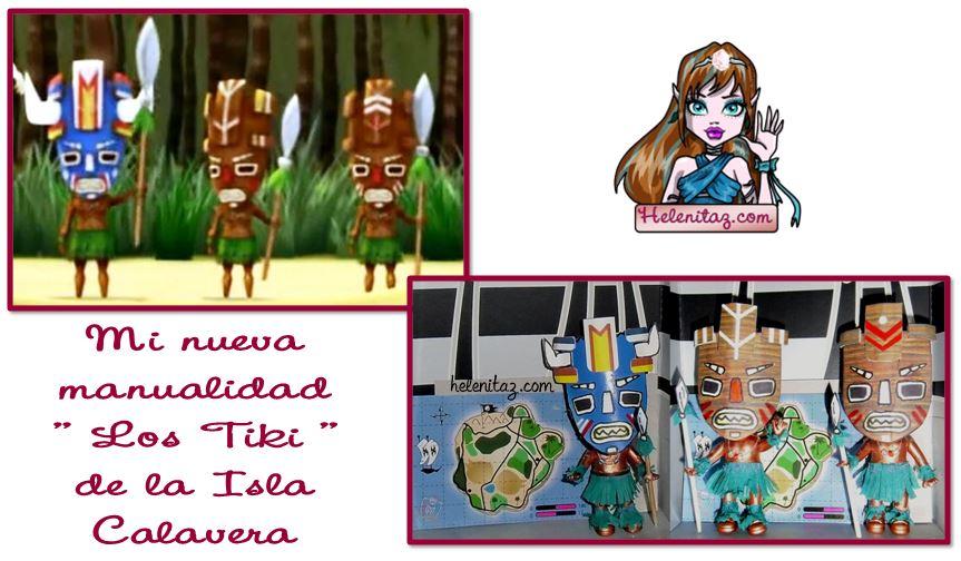 Manualidad Tiki de helenitaz.com