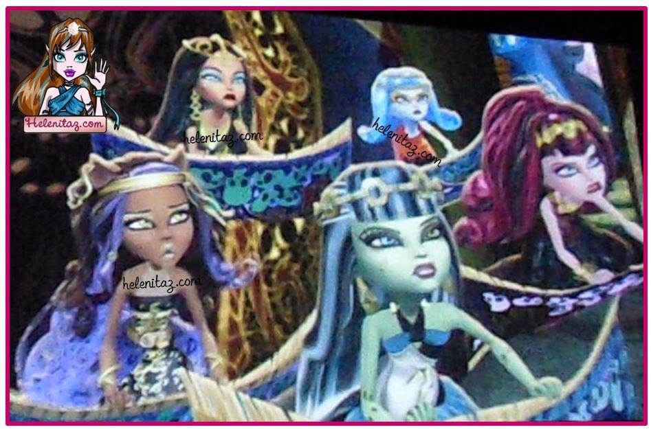 Cleo, Ghoulia, Clawdeen, Frankie y Draculaura - Trailer Película 13 Deseos - helenitaz.com