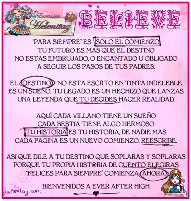 Creer en Ever After High - helenitaz.com