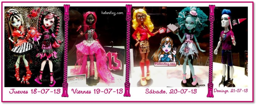 Muñec@s presentad@s en la SDCC 2013 por Monster High - Mattel Inc.