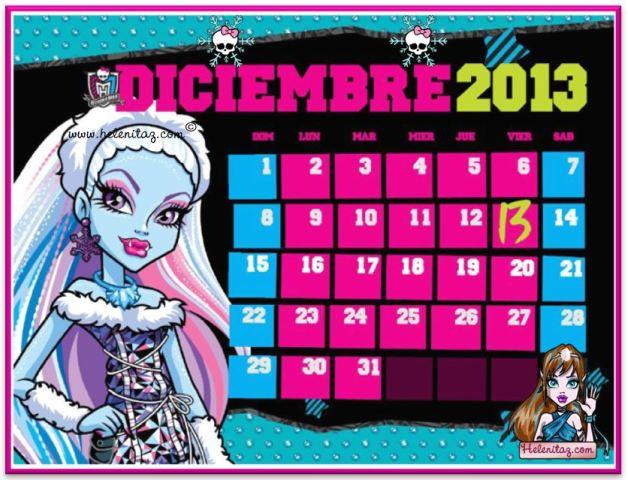 Calendario de Diciembre de 2013