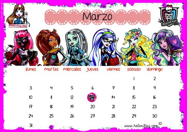 Calendario de marzo-14 de www.helenitaz.com