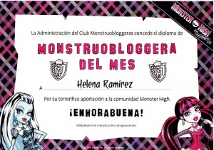 Monstruoblogera Diploma-Blog