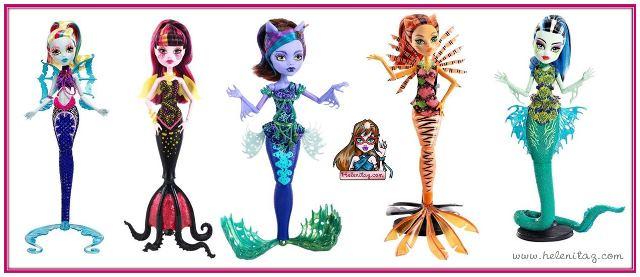 Versiones de Lagoona, Draculaura, Clawdeen, Toralei y Frankie.
